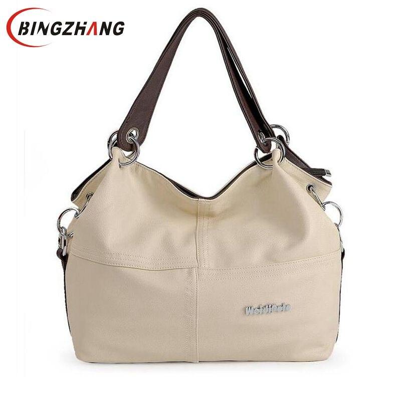 Vrouwen Crossbody Tassen Veelzijdige Handtassen Zachte Aanbieding PU Lederen tas/Splice enten Vintage schoudertassen 2018 L8-48