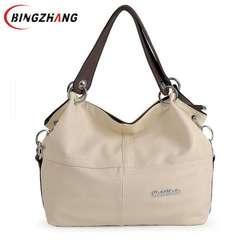Для женщин Crossbody Сумки вместительные сумки мягкое предложение из искусственной кожи Сумка/сращивания прививки Винтаж сумки на плечо 2019 L8-48