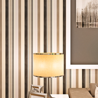 HANMERO QZ0032 Modern Wall Paper Home Decor Background Wall Striped Wallpaper Black White Wallcovering 3D Wallpaper