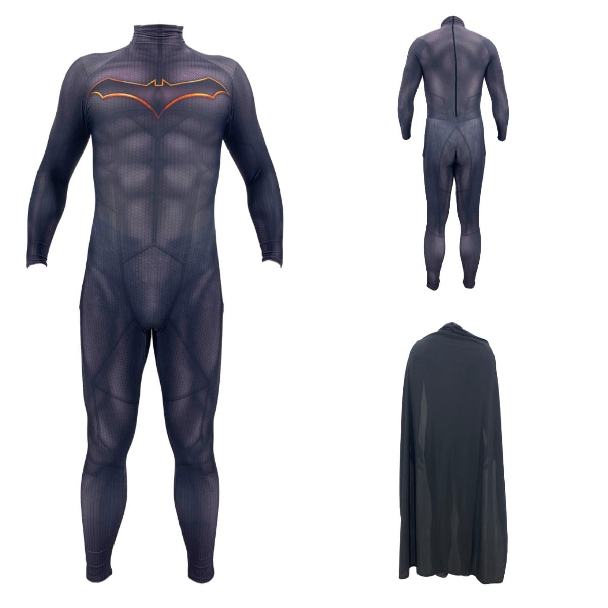 3D printing Batman DarKnight Cosplay Costume Bruce Wayne Superhero Zentai Bodysuit Suit Jumpsuits Batman costumes