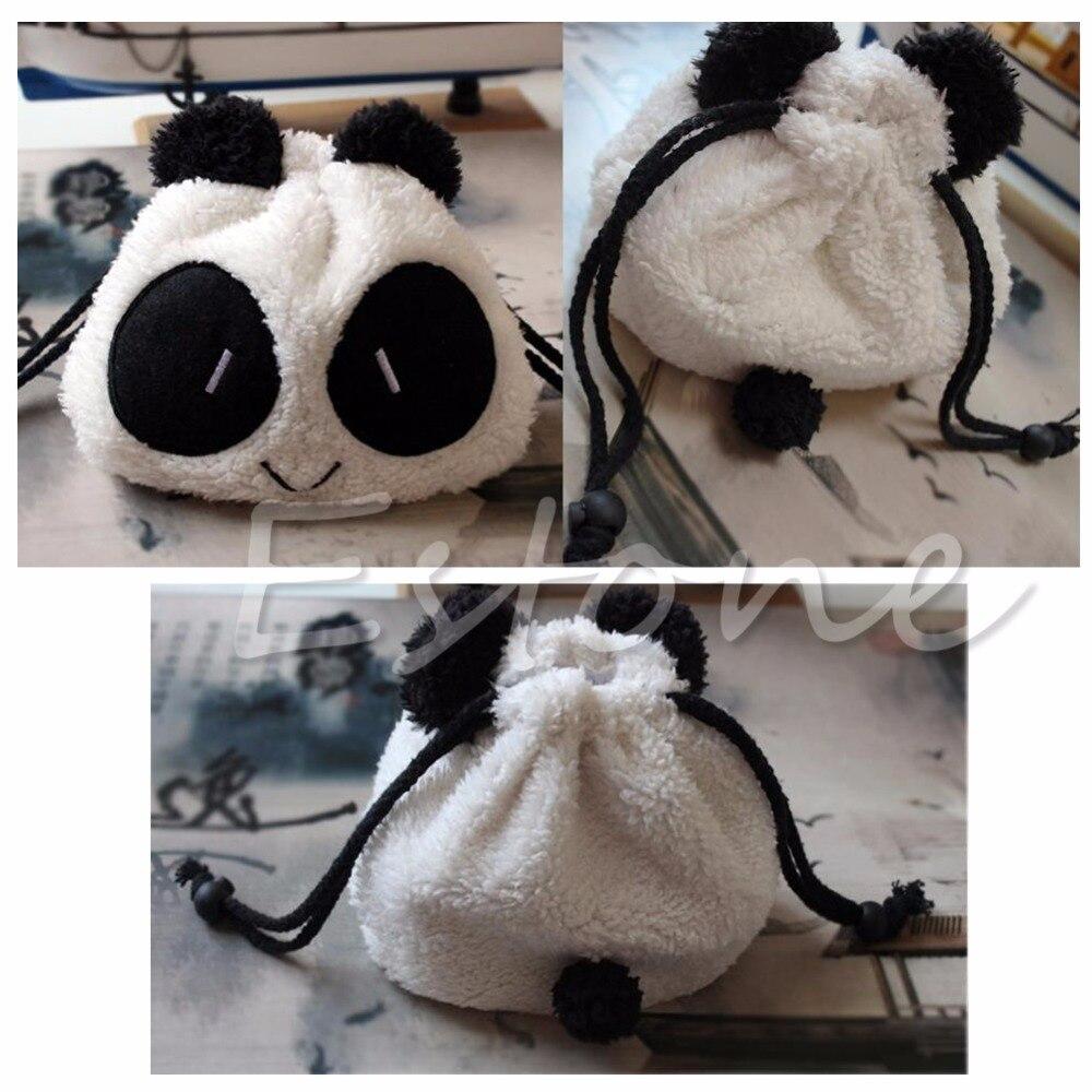 Geldbörsen & Brieftaschen Kinder- & Babytaschen Ehrlich Thinkthendo Plüsch-weiche Panda Gesicht Kosmetische Münze Brieftasche Kordelzug Lagerung Einkaufstasche Krankheiten Zu Verhindern Und Zu Heilen
