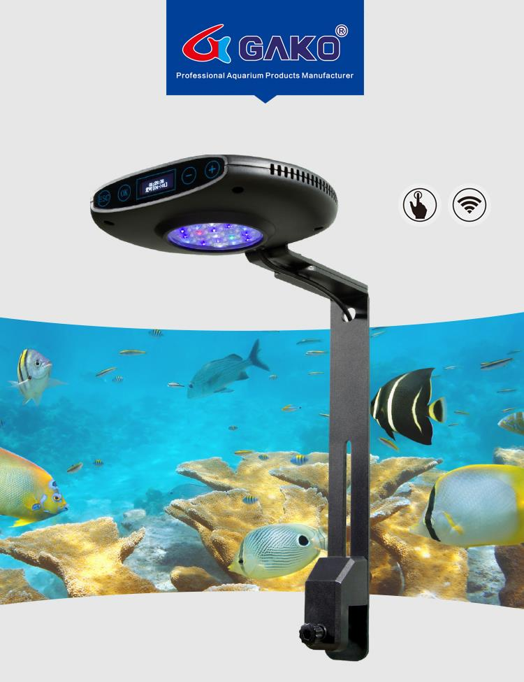수족관 빛 30 w 52 w dimmable led 수족관 조명 해양 수족관 조 광기에 대 한 산호 램프 전문 물고기 및 수생 조명-에서조명부터 홈 & 가든 의  그룹 1