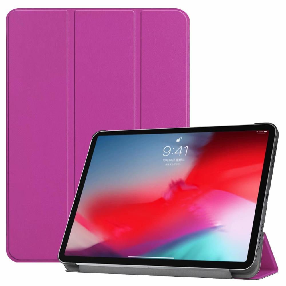 Purple iPad Pro3 11 2018 smart case with different patterns