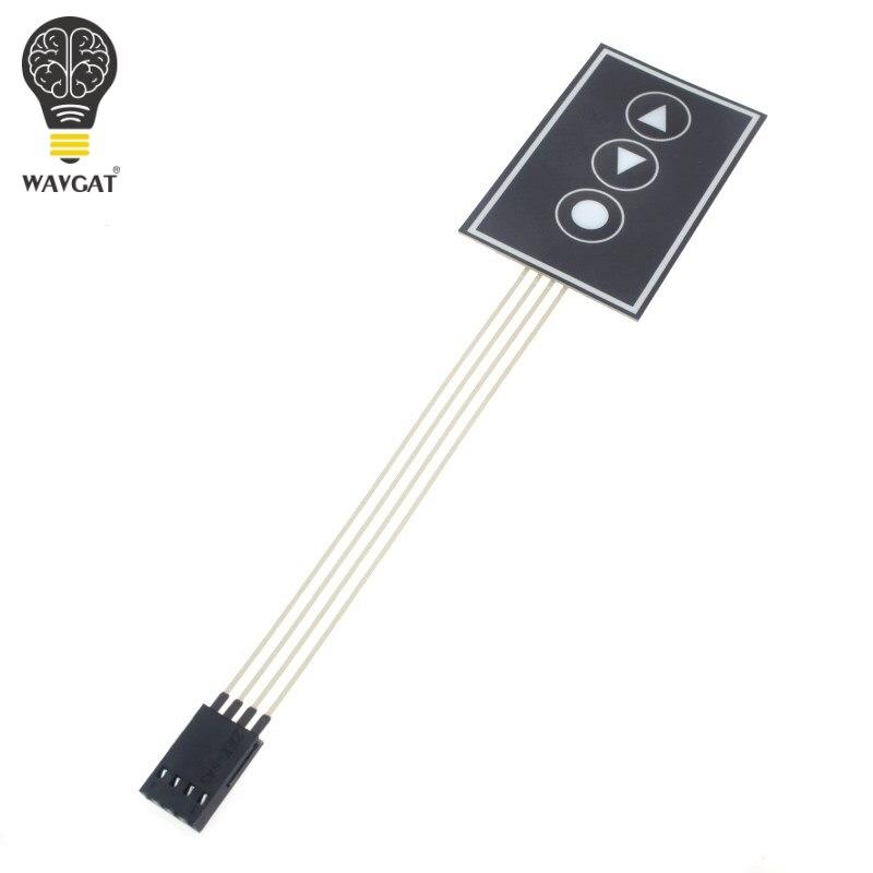 Interruptor de Membrana Interruptor do Monitor Painel de Controle Wavgat Matriz Teclado Membrana 1*3 36*55mm 1×3