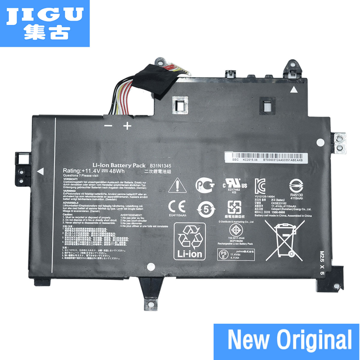 JIGU Original Laptop Battery B31N1345 For ASUS Transformer Book Flip TP500L TP500LA TP500LN 11.4V 48WH