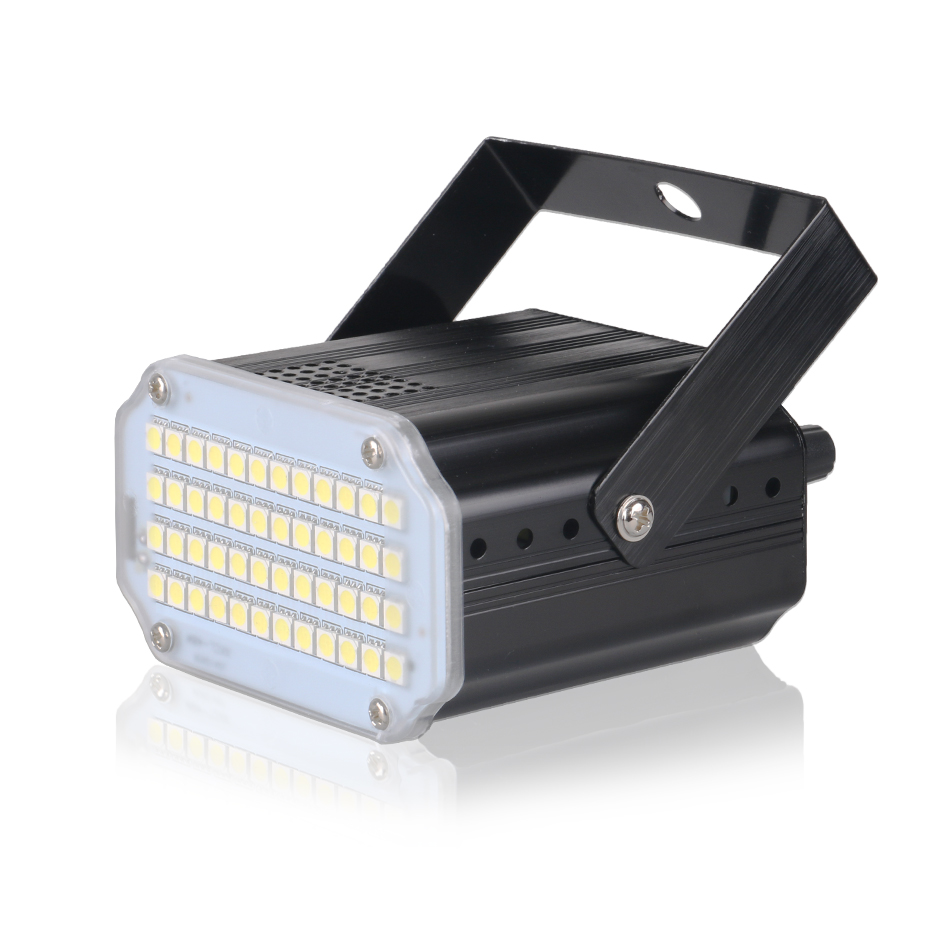 ALIEN 48 LED RGB UV White Strobe Lights Disco DJ Party Holiday Christmas Music Club Sound Activated Flash Stage Lighting Effect 2