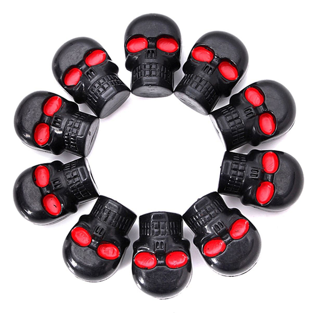 AUTO 10x Motorcycle Tag Fastener Skull License Plate Frame Bolts ...
