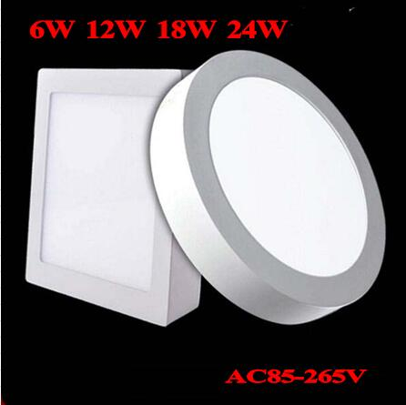 No Cut ceiling 6w 12w 18w 24w Surface mounted led downlight Round panel light SMD Ultra