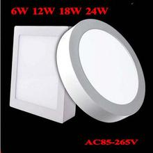 No Cut ceiling 6w 12w 18w 24w Surface mounted led downlight Round panel light SMD Ultra thin circle ceiling Down lamp kitchen