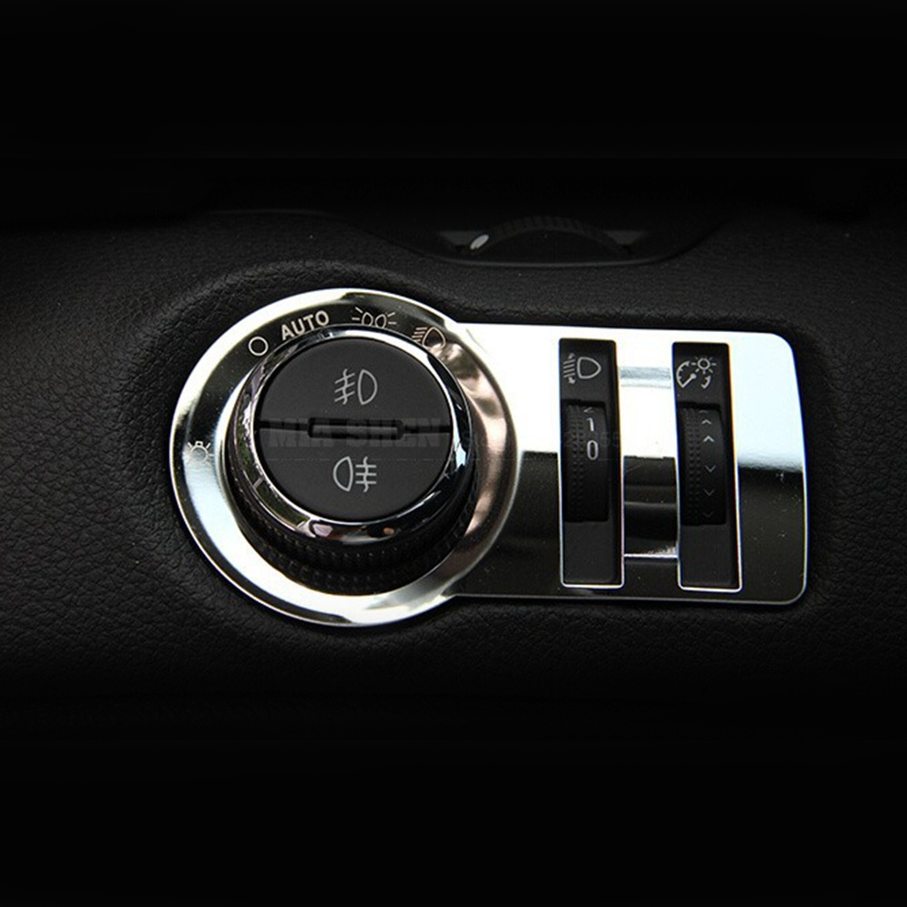 Image 2 - Car styling ,Stainless steel headlight switch decoration sticker/ trim For Chevrolet Malibu Cruze Trax For Opel Mokka ASTRA J-in Car Stickers from Automobiles & Motorcycles
