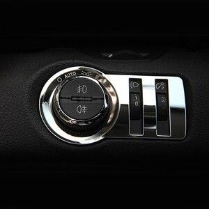 Image 2 - Style de voiture, autocollant de décoration de commutateur de phare dacier inoxydable/garniture pour Chevrolet Malibu Cruze Trax pour Opel Mokka ASTRA J