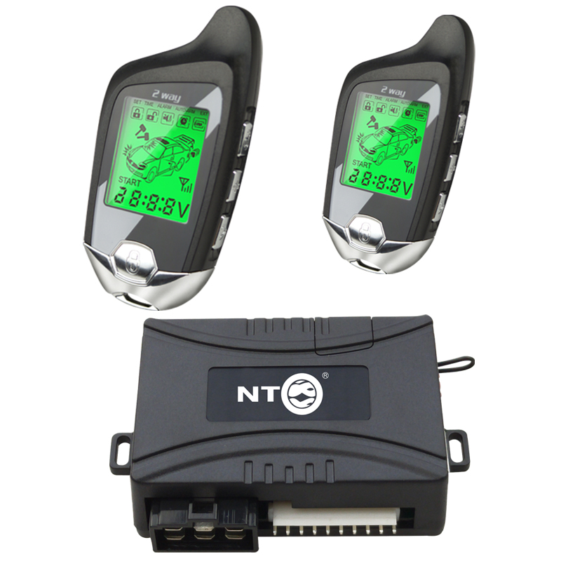 Système de sécurité d'alarme de voiture serrure de porte centrale système sans clé verrouillage central avec télécommande LCD démarrage arrêt système moteur k