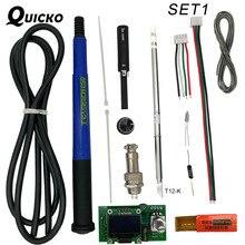 QUICKO controlador Digital de temperatura T12 STC OLED, estación de soldadura de hierro, panel de pantalla de soldadura aplicable a puntas HAKKO T12