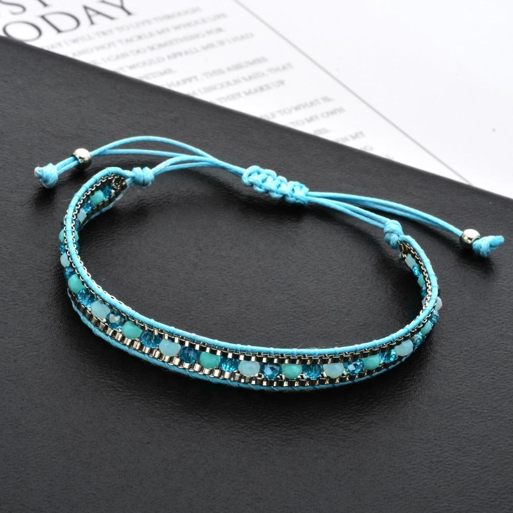 White Beaded Wrap Friendship Bracelet
