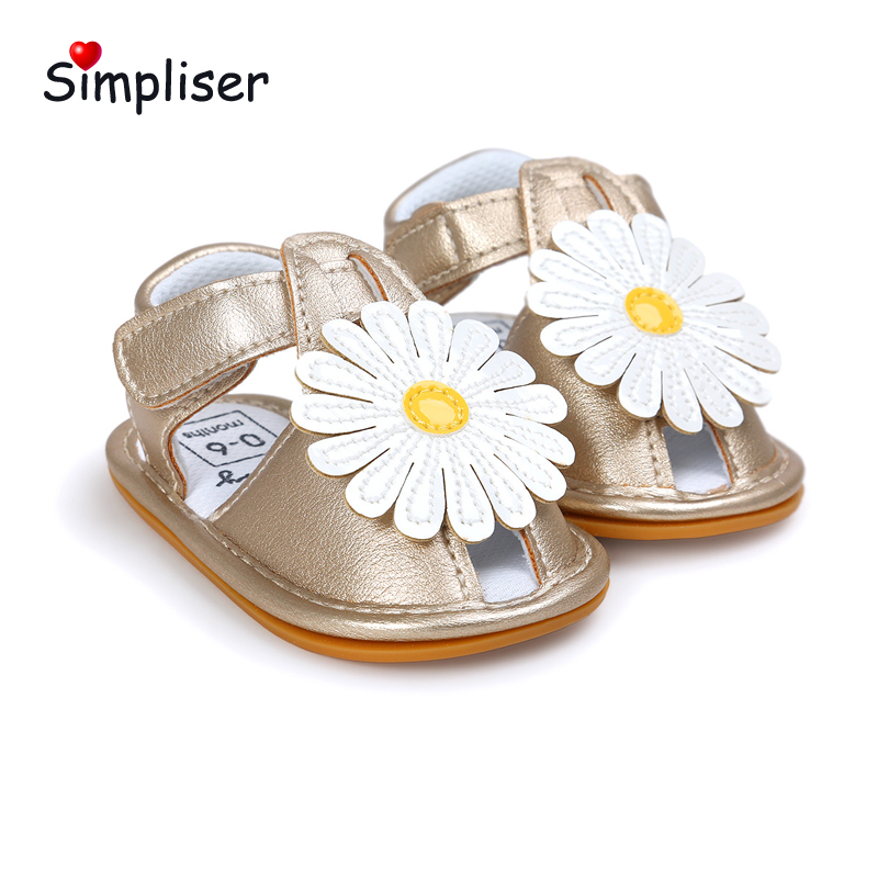 Dress Shoes For Newborn 0-18 Moths Baby Sandals Soft Leather Flower Toddler Shoes Infant First Walkers Floor Shoes Walking shoes