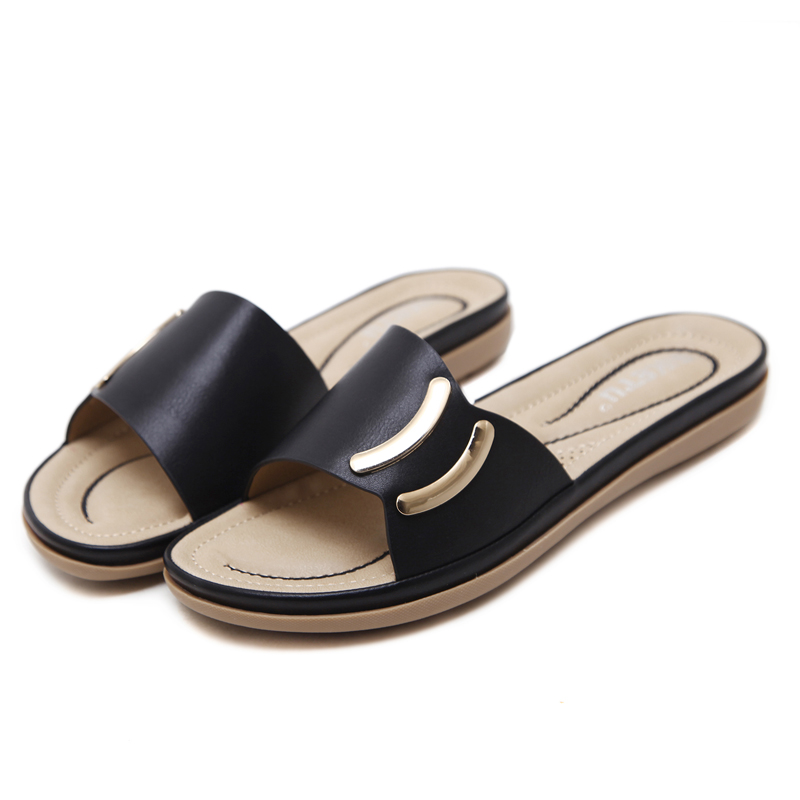 2018 New Fashion Summer Women Shoes Female Flat Tide Pu Mulher Sandals Slippers Waterproof Mujer Sandal Zapatos Chaussure Femme women slippers ladies shoes slip on slider fluffy faux fur flat fashion female leopard slipper flip flop sandal zapatos mujer