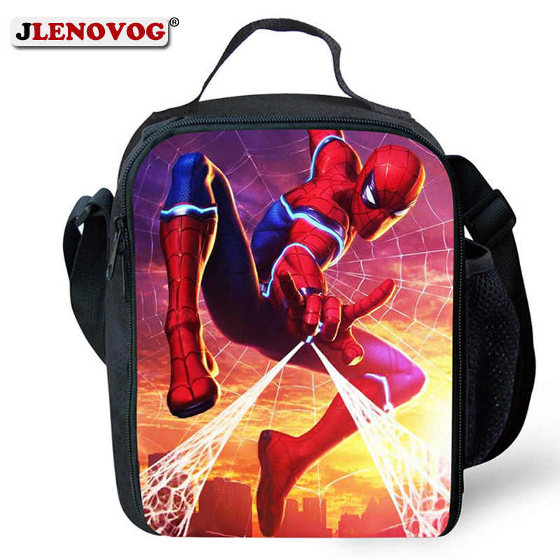 Fashion Lunch Bag for Kids School Cool Cartoon Hero Character Spiderman/Toy Story Lunch Box Bag Boys Food Bag Thermal