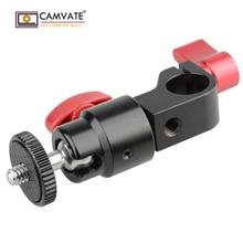 CAMVATE 15mm Çubuk Kelepçe ve Top Kafa Montaj Adaptörü C1444 kamera fotoğraf aksesuarları