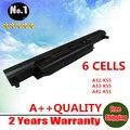 Al por mayor nueva 6 celdas de batería portátil para asus a45 a55 a75 k45 A32-K55 K55 K75 R400 R500 U57 X45 X55 X75 A41-K55 envío gratis