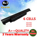 Wholesale New 6 cells Laptop battery For asus A45 A55 A75 K45 K55 K75 R400 R500  U57 X45 X55 X75  A32-K55 A41-K55 free shipping