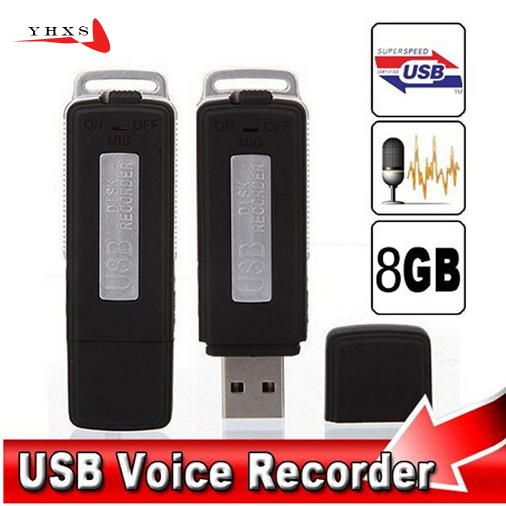 16GB Metal Digital Voice Recorder Voice Activated USB Pen Drive Voice Recording with Two Slots for PC Xiaom Android Smartphone