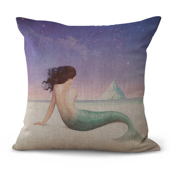Beach Mermaid Cushion Cover 2