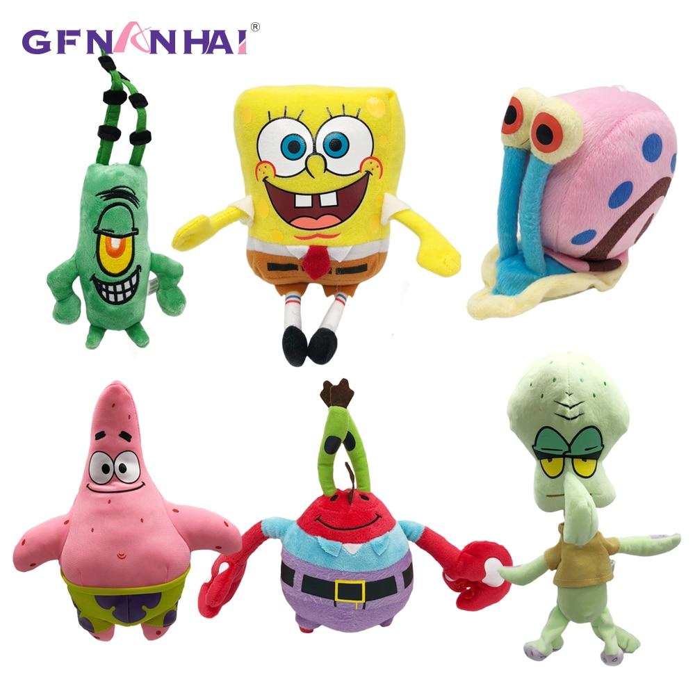 6 Styles SpongeBob/Patrick Star/Squidward Tentacles/Eugene/Sheldon/Gary Plush Toys Cartoon Figure SpongeBob Doll For Kids Gifts