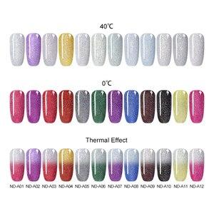 Image 3 - NICOLE DIARY Thermal Nail Polish Glitter Temperature Color Changing Water based Varnish Shinny Shimmer Peel Off Nail varnish