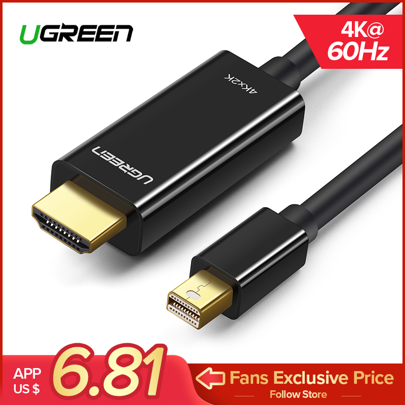 Ugreen Mini Displayport zu HDMI Kabel 4 karat Thunderbolt 2 HDMI Konverter Für MacBook Air 13 iMac Chromebook Mini DP zu HDMI Adapter