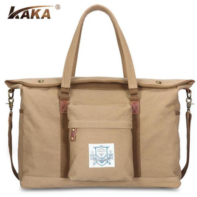 KAKA Hot 2017 High-grade dos homens de Lona Bolsas Personalidade Multi-função Homens Travel Bag Homens Originais de Moda Duffle viagem B364