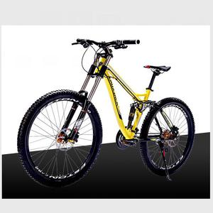 Kalosse Full suspension new cycling mountain bike 26er mountain bicycle woman bike 24/27/30 speed Hydraulic brakes
