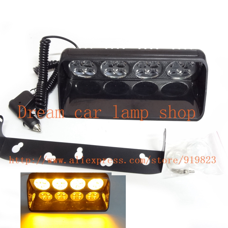 16LED warning font b light b font emergency signal lamp super bright LED flash 48W 12V