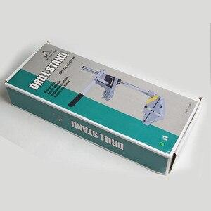 Image 4 - Elektrikli matkap standı güç döner araçları aksesuarları tezgah matkabı basın standı DIY aracı çift kelepçe taban çerçeve matkap tutucu