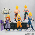 6pcs/set Anime Dragon Ball Z Super Saiyan Goku Vegeta Gotenks PVC Action Figure Toys Model GB071