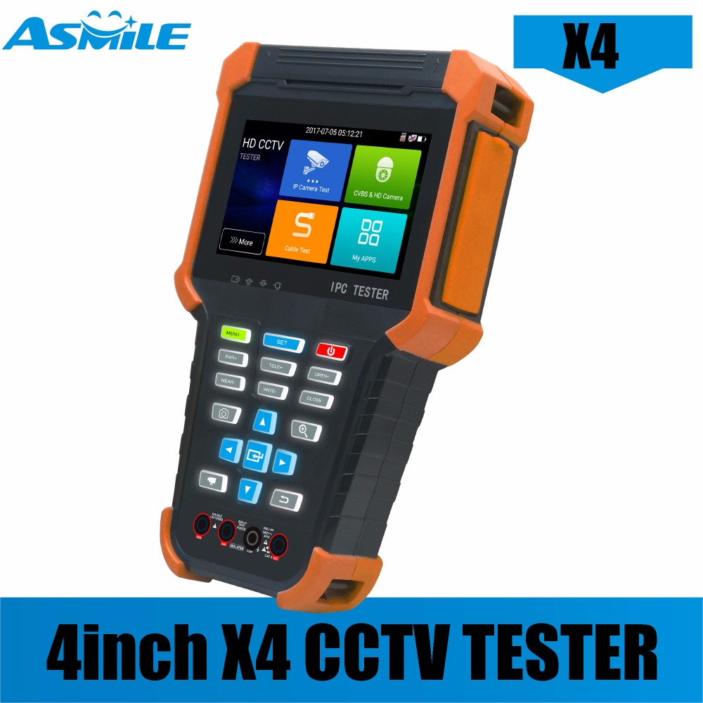 X4 Cheapest 4 Inch 5MP AHD 8MP TVI 8MP CVI IPC Tester With H-D-M-I Input,IPS Touch Screen,800*480 Resolution Tester Monitor