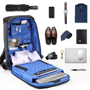 Image 4 - Kingsons Backpack Men Women 15.6 inch Laptop Anti Theft Bagpack USB Charging Mini Back Pack for Teen School Business Bag mochila