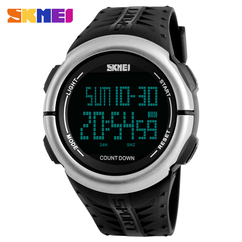 Fashion Outdoor Men Sports Watches Top Brand SKMEI 50M Waterproof Clock Men LED Digital Sport Military Watch Relogio Masculino 2016 brand o t s fashion outdoor sport waterproof led mens clock digital