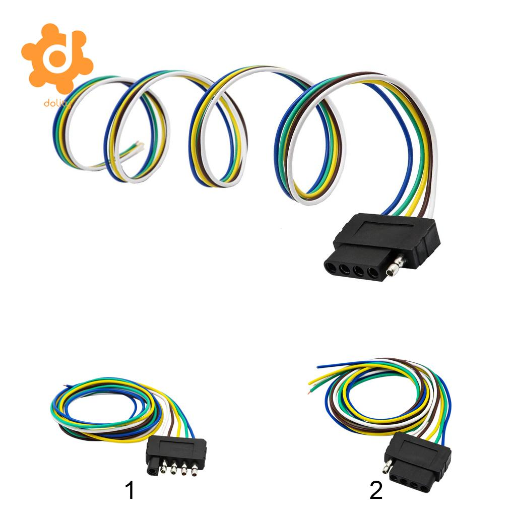 Dolity 5 Way 5 Pin Flat Trailer Wire Harness Extension Connector Socket W 36 Cable Us Trailer Wiring Trailer Socketwire Harness Connectors Aliexpress