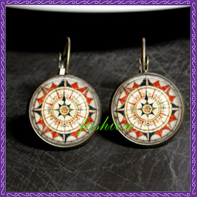 Aztec summer earrings old world map compass earrings native american aztec summer earrings old world map compass earrings native american earrings aztec inspired compass earrings native gumiabroncs Gallery