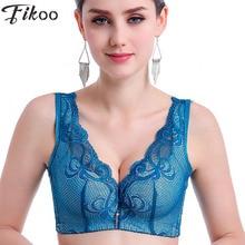 Fikoo Bras Sexy Women's Intimates Deep V Thin Embroidery Bra For Women Beauty Back Woman Push up Vest Underwear Bralette