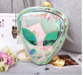 New Designer Hologram Transparent Alien Backpack Clear PVC Shinning Cartoon School Bags Mochila Alien
