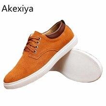 Akexiya 30% off tamaño grande 39-49 marca color sólido de los hombres respirables al aire libre zapatos de lona de los hombres ocasionales