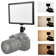 LCD Display Bi-Color Display and Adjustable Slim LED Illuminator for DSLR Camera + Battery + Charger for Canon and Nikon Camera
