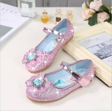 Children Leather Shoes Girls Princess Summer Elsa Shoes Enfants Sandals Party Anna Rhinestone Dance Shoes цены онлайн