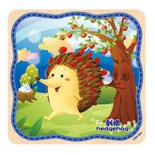 Мода Высокого Качества Деревянные Головоломки Обучающие Развивающие Baby Дети Обучение Игрушки Бесплатная Доставка