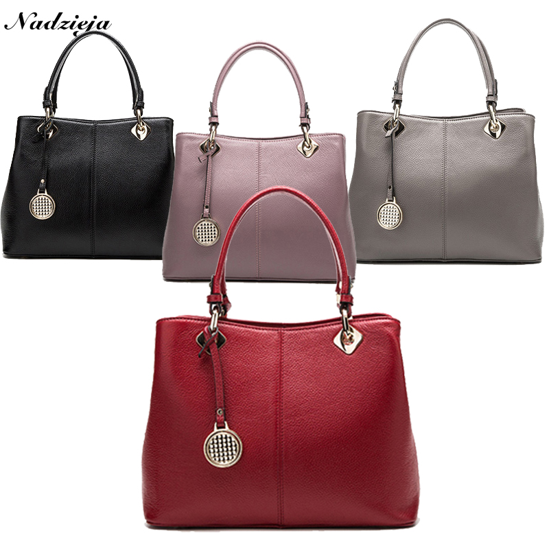 Fashion Real Leather Tote Bag Women Cow Leather Ladies Handbags Women Genuine Leather Handbags High Quality