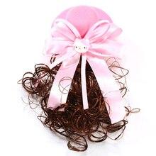 2018 New Fashion Baby Girls Cartoon Cat Cherry Wigs Hat Bow Barrettes Kids Cute Hair Clips Headbands Children Hair Accessories