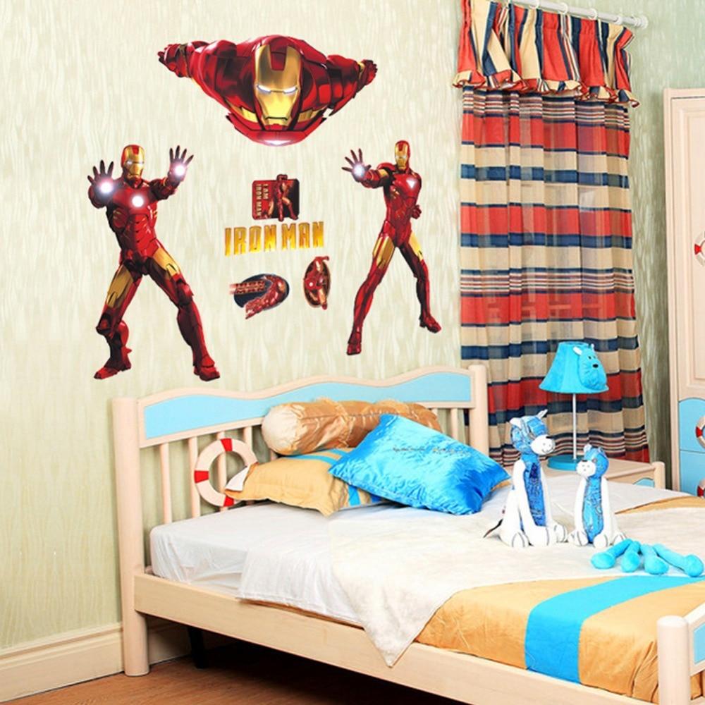 Aliexpresscom Buy New Arrival Iron Man Large Size Wall Sticker