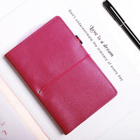 Yiwi Free Logo Custom Genuine Leather A6 Personal Bind Notebook 6 Loose Leaf Binder Planner With Filler Pages