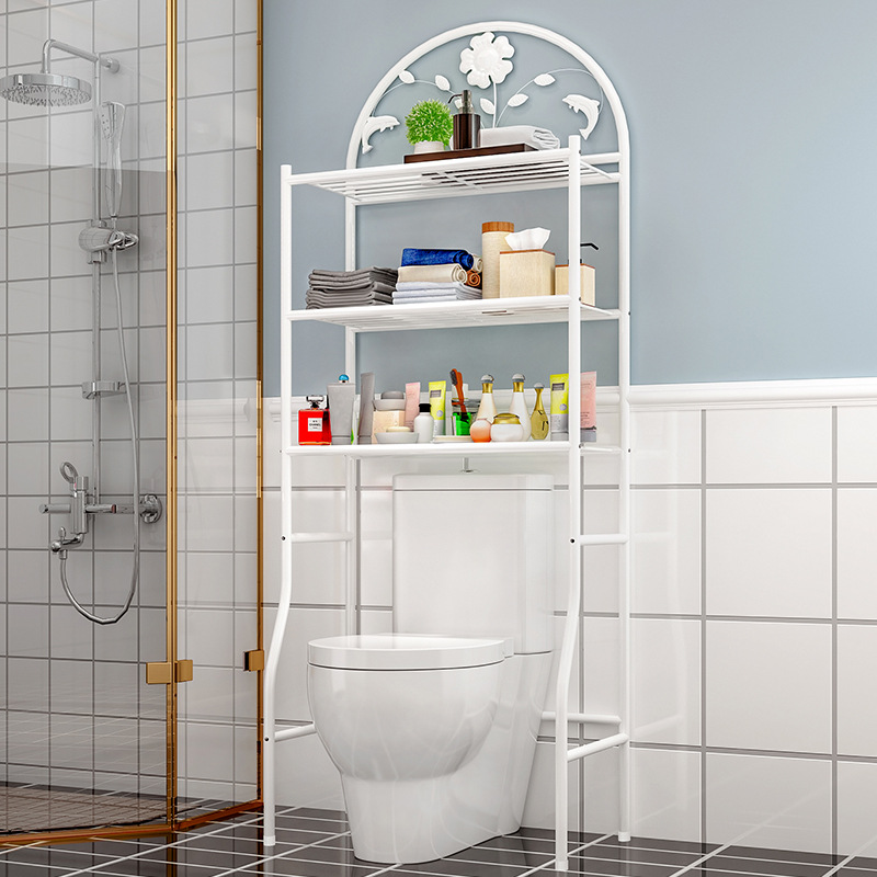 Multifunctional Bathroom Storage Rack Simple Toilet Organizer Frame Landing Washing Machine Rack Bathroom Storage Furniture